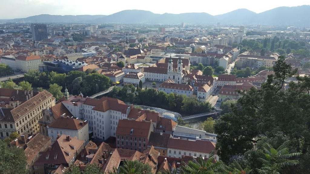 Graz view from hill