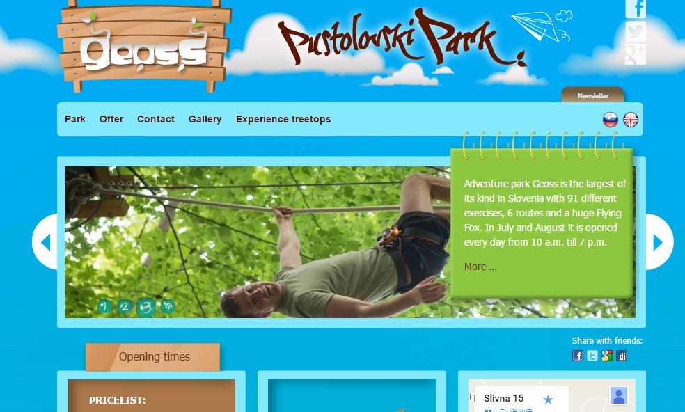 Geoss park website