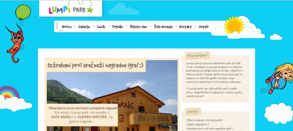Lumpi park slovenia website
