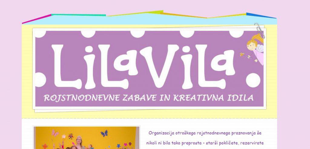 Lila Vila Ljubljana website