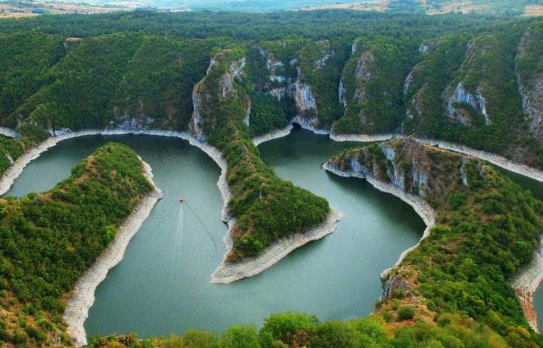 Uvac meandering river