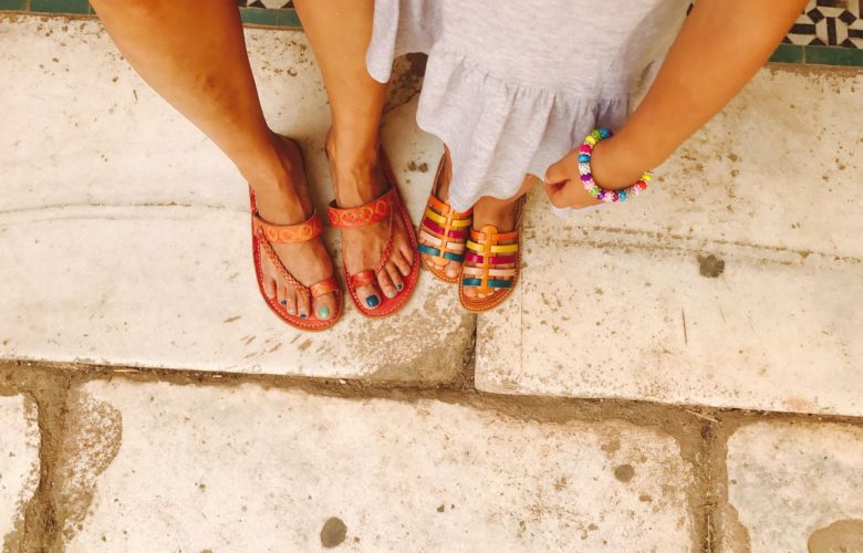 our feet in Marrakech