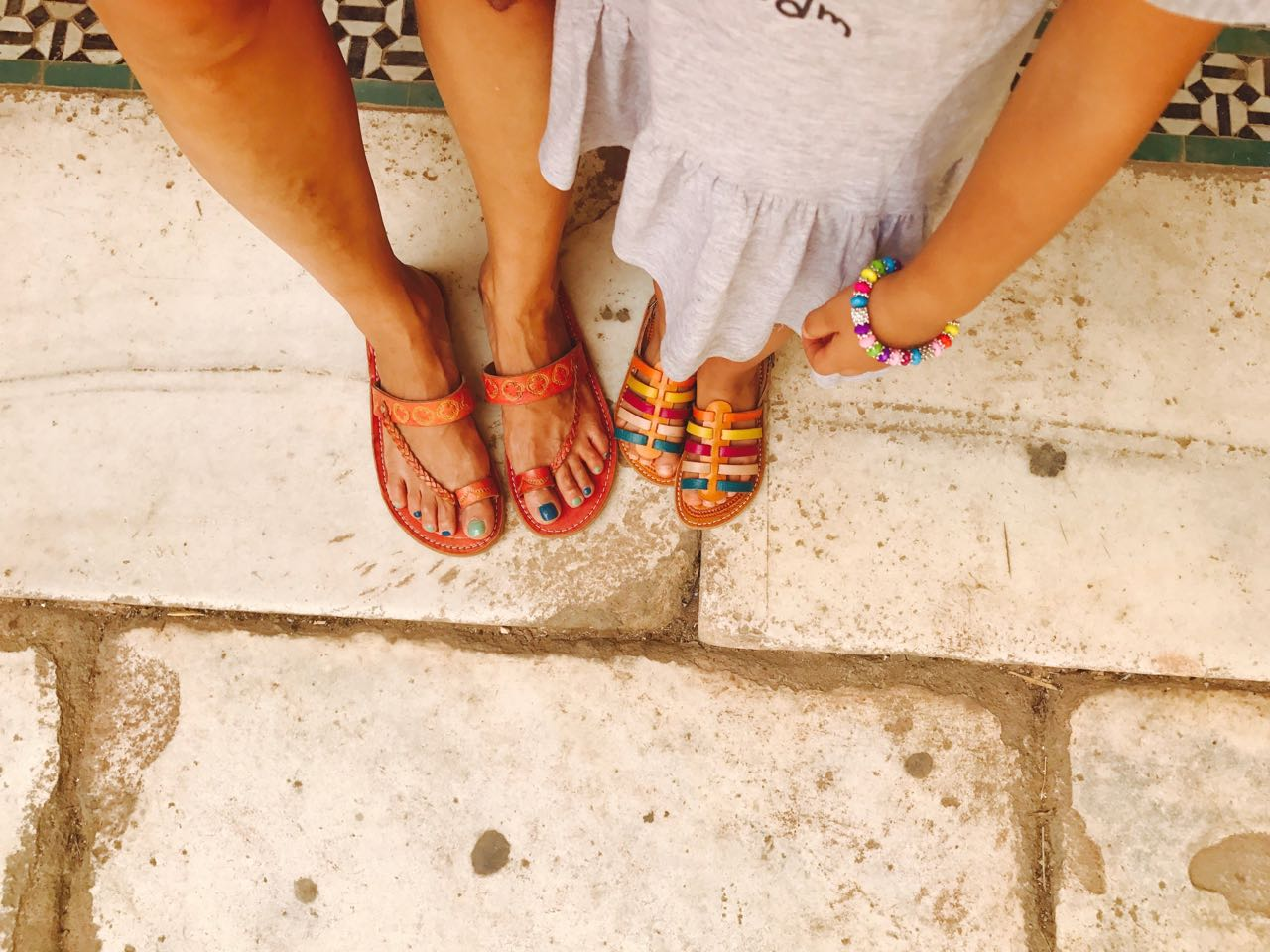 our feet in Marrakech