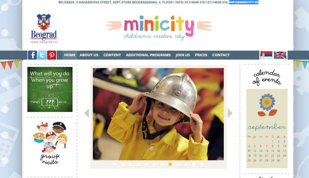 Mini City Belgrade website