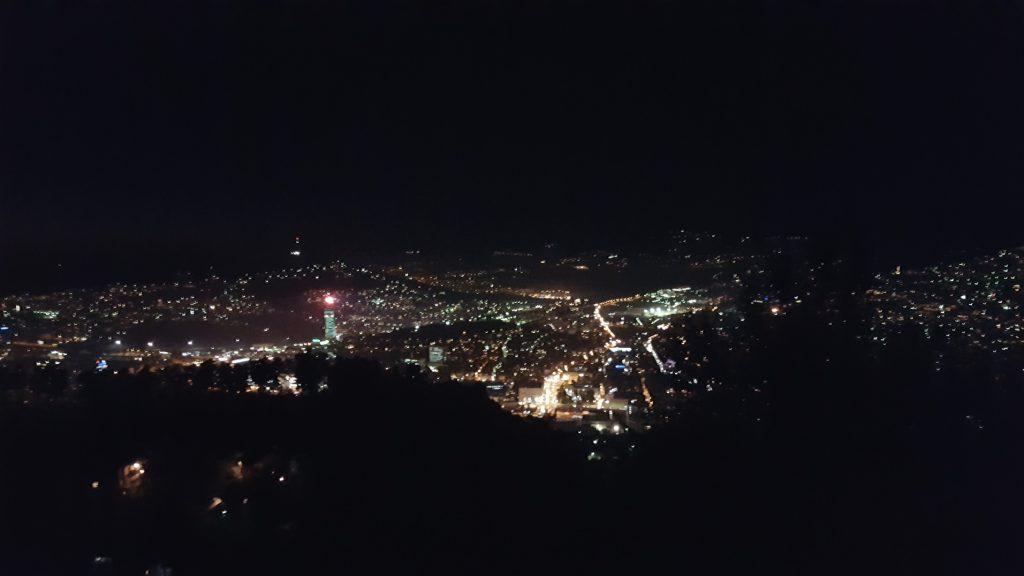Night view of Sarajevo