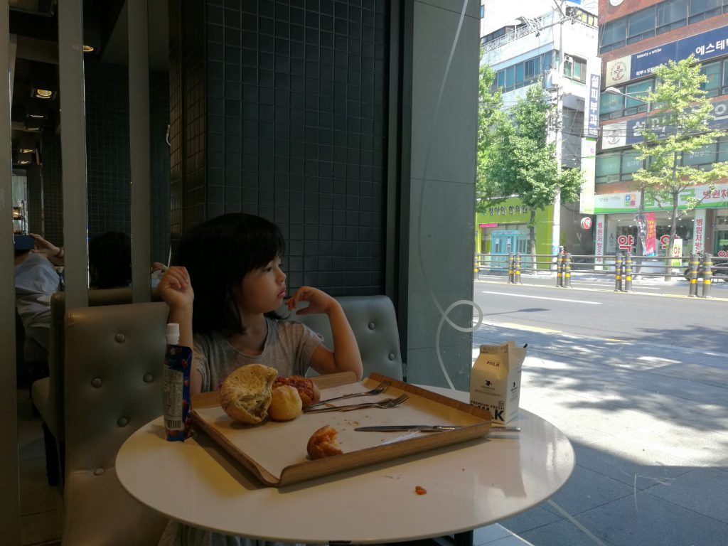 girl at the paris baguette, Busan
