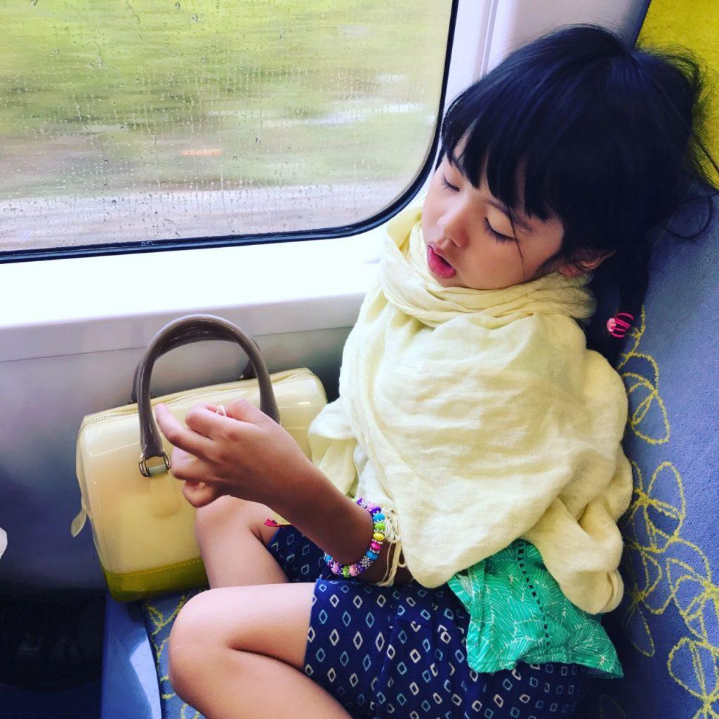 girl on train to paris