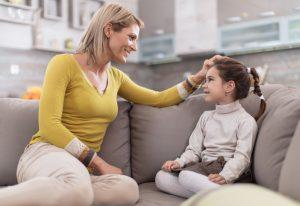 mum talk to daughter